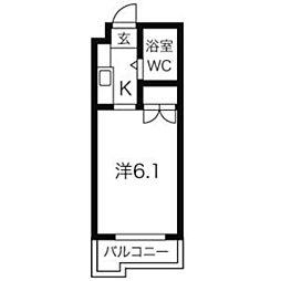 ジョイフル本山[406号室]の間取り