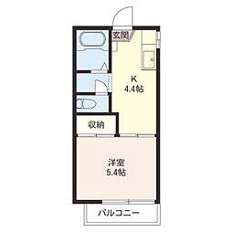 小中台コーポ[2階]の間取り