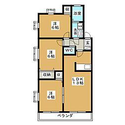 愛知県名古屋市千種区菊坂町3丁目の賃貸マンションの間取り