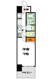 ユーカ心斎橋東[11階]の間取り