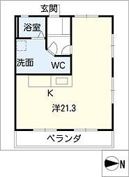マイアみどり A棟[3階]の間取り