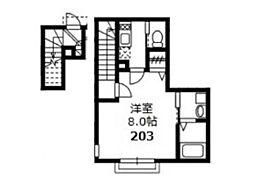 クレシェンド津田沼[2階]の間取り