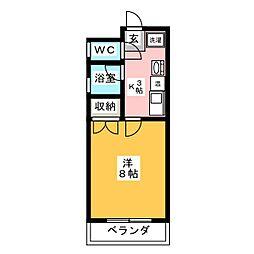 ニュー・アカネマンション[2階]の間取り