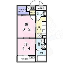 大阪モノレール 南摂津駅 バス6分 西鳥飼下車 徒歩6分の賃貸マンション 1階1DKの間取り
