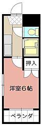 シャトレ井堀[101号室]の間取り