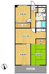 エクシードマンション[305号室]の間取り