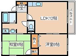 兵庫県神戸市長田区前原町2丁目の賃貸アパートの間取り