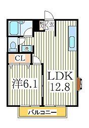 エスポワール2[1階]の間取り