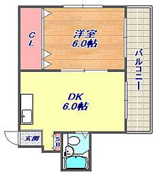 中島ビル[305号室]の間取り