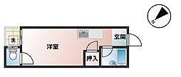 田尻アパート[110号室]の間取り