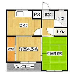 野色マンション[3階]の間取り