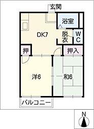 第2高塚ハイツB[2階]の間取り