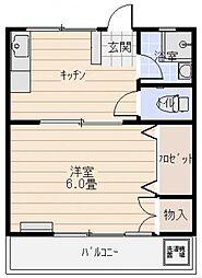 弘コーポ[3階、4階号室]の間取り