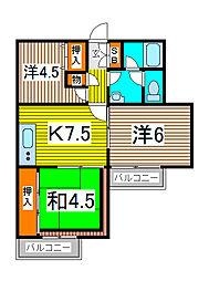 秋本マンション[5階]の間取り