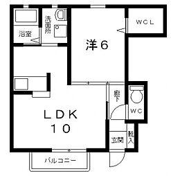 シャーメゾン稲田本町A棟[A101号室号室]の間取り