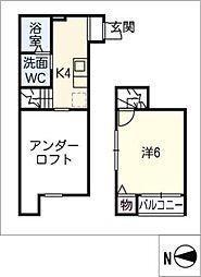 stage内田橋[1階]の間取り
