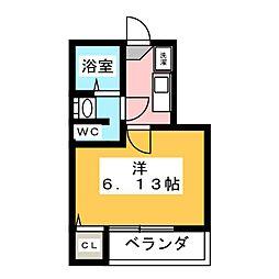 momo[2階]の間取り