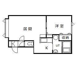 北海道旭川市永山二条14丁目の賃貸アパートの間取り