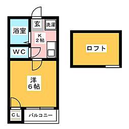 パークコート大博通り[2階]の間取り