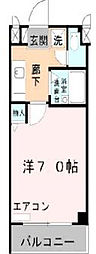 ロイヤルカーサ阿倍野[3階]の間取り