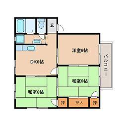 静岡県静岡市清水区天王東の賃貸アパートの間取り