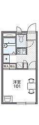 福井市下馬2-315[207号室]の間取り