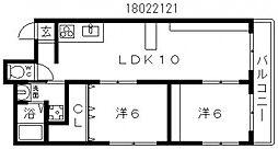 シティーライフ帝塚山[2階]の間取り