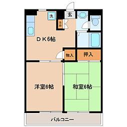宮城県仙台市若林区新寺3丁目の賃貸マンションの間取り