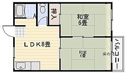 キタノマンション[202号室]の間取り