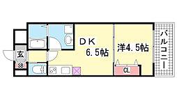 エステムコート三宮駅前2アデシオン[8階]の間取り