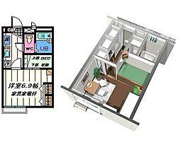 千葉県松戸市六実2丁目の賃貸アパートの間取り