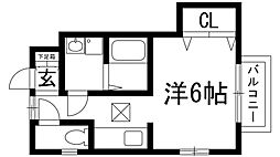 兵庫県川西市小花1丁目の賃貸アパートの間取り
