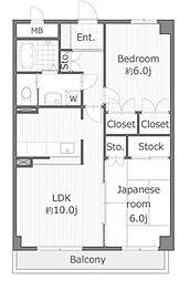 エクセルハイム茅ヶ崎[3階]の間取り