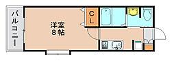 サンロージュ箱崎駅前[5階]の間取り