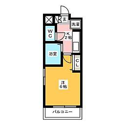 ルミナス博多[1階]の間取り