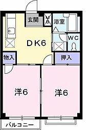 香川県坂出市江尻町の賃貸アパートの間取り