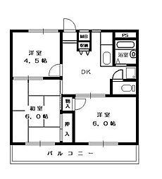 神奈川県横浜市戸塚区汲沢6丁目の賃貸マンションの間取り
