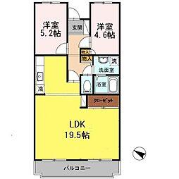 オースター5番館[4階]の間取り