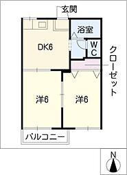 シャトル加藤[1階]の間取り