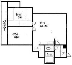 北海道札幌市南区澄川六条3丁目の賃貸マンションの間取り