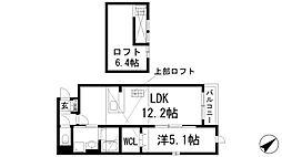 兵庫県宝塚市山本南2丁目の賃貸アパートの間取り