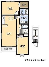 フラン・アンジュ Ⅰ[2階]の間取り