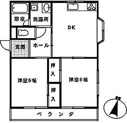 埼玉県さいたま市大宮区浅間町2丁目の賃貸マンションの間取り