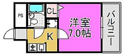 中谷ビル[3階]の間取り