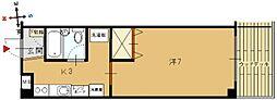 メイプルハイツ[B203号室]の間取り