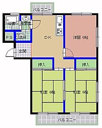 新地マンション C棟[301号室]の間取り