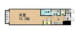 エスリード福島第5[9階]の間取り