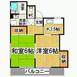 本田ハイツ[3階]の間取り