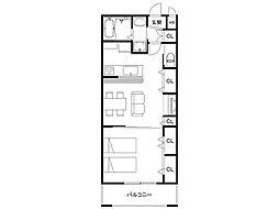Reserve Laketown Residence 3階1LDKの間取り