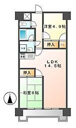 ジュフク松本[2階]の間取り